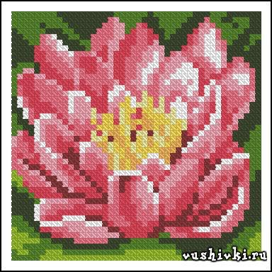 Подушка - Розовая лилия.
