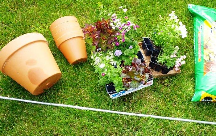 Плантация для сада из цветочных горшков (1)