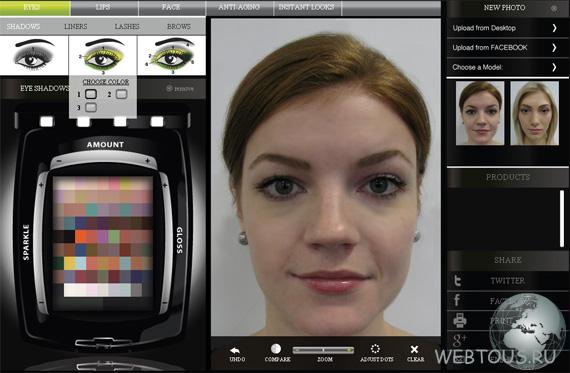 онлайн фото на макияж