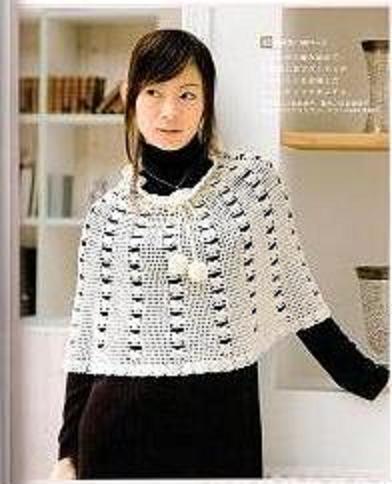 crochet poncho calado blanco (392x484, 29Kb)