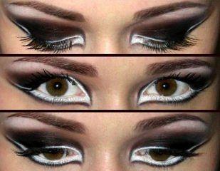 b Смоки айс макияж /b и стрелки на глазах.