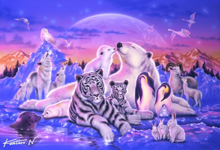 Animals--Family (700x478, 187Kb)
