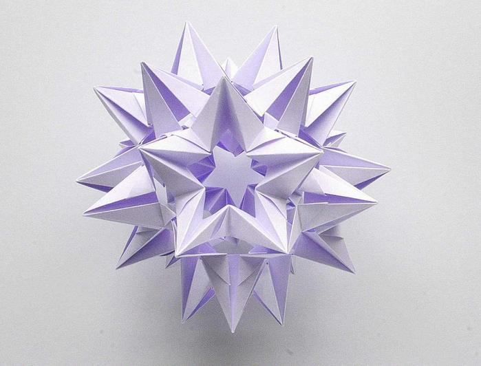 Мастер-класс сборки.  Видео-инструкция.  Кусудама Omega Star, автор Валери Ванн.