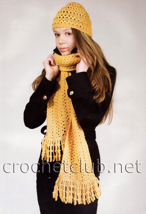 Шапка шарфик 11