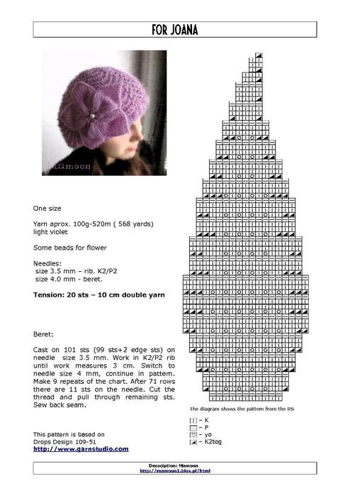 беретик схема (494x700, 156Kb)