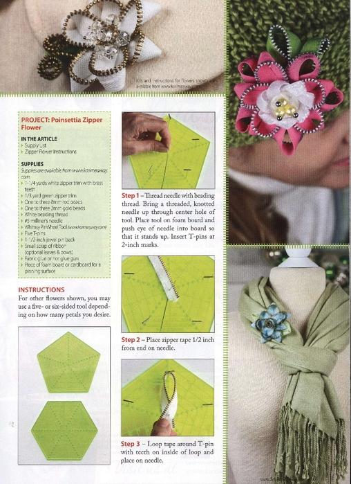 Как сделать цветок из молнии