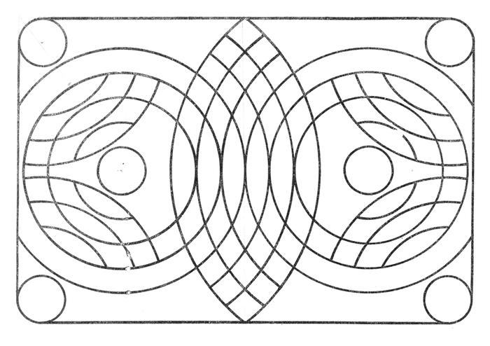Рисунок окружностями циркулем