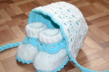 Вязание для новорожденных шапочка на выписку
