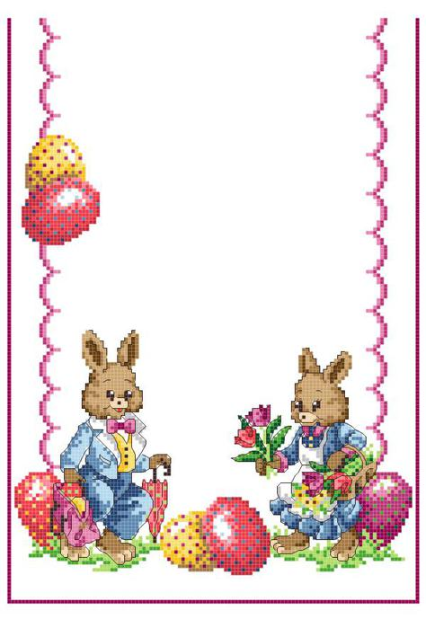 AMA 36-9264 Easter Rabbits TR (474x700, 46Kb)