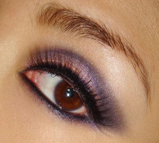 Pink and purple smokey eye makeup