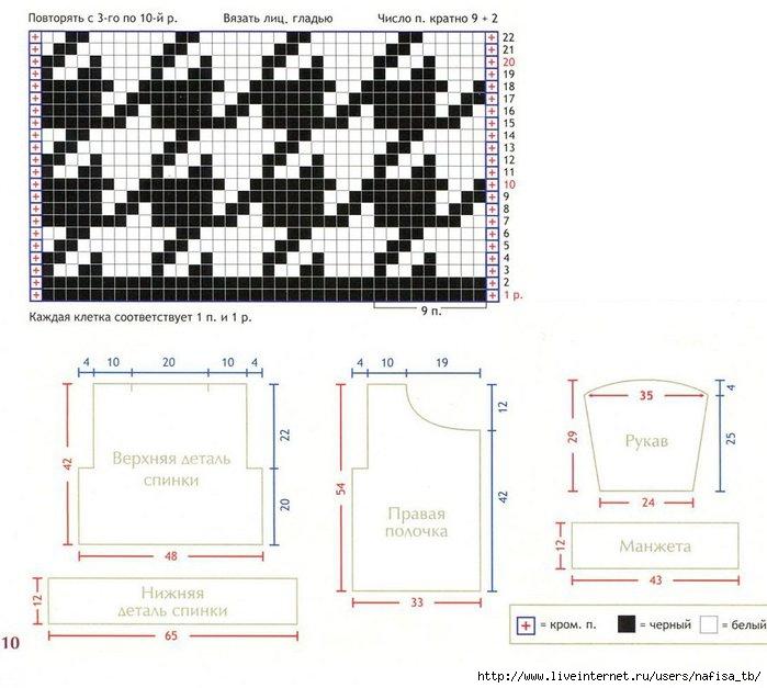 Узор для вязания спицами гусиные лапки схема 30