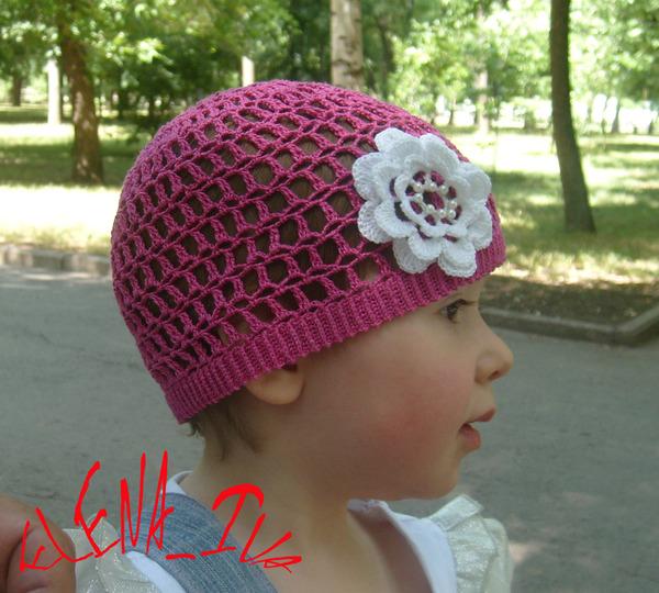 крючком для детей шапочки