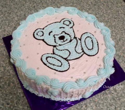 Как украсить детский торт белковым кремом