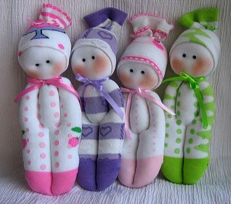 куклы из носков своими руками,