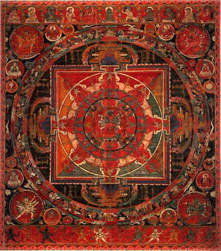 Mandala Tibetan mandala from 15th century (444x504, 104Kb)