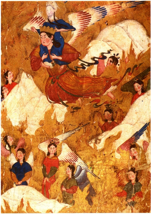 Min - Gabriel carries Muhammad over the Mountains (493x700, 363Kb)