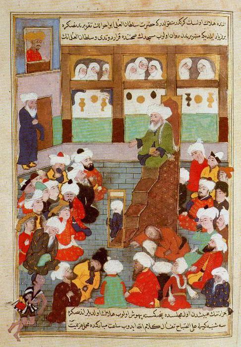 Min - Shaykh Baha'al-Din Veled preaching in Balkh (1600) (486x700, 94Kb)