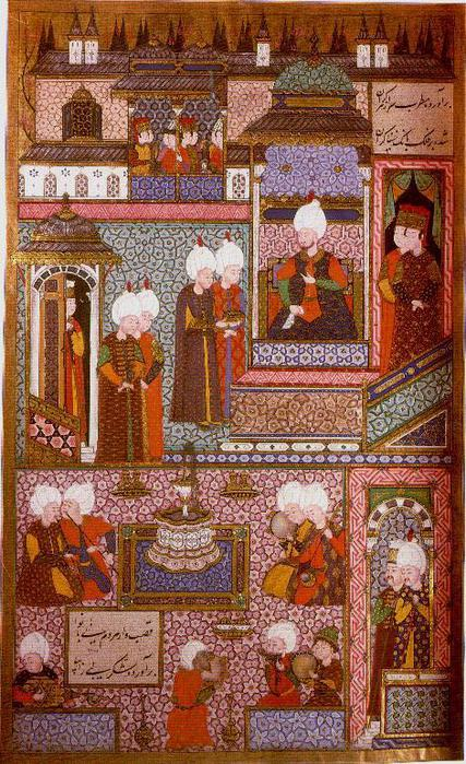 Min - Suleyman receives his Grand Admiral (1558) (427x700, 103Kb)