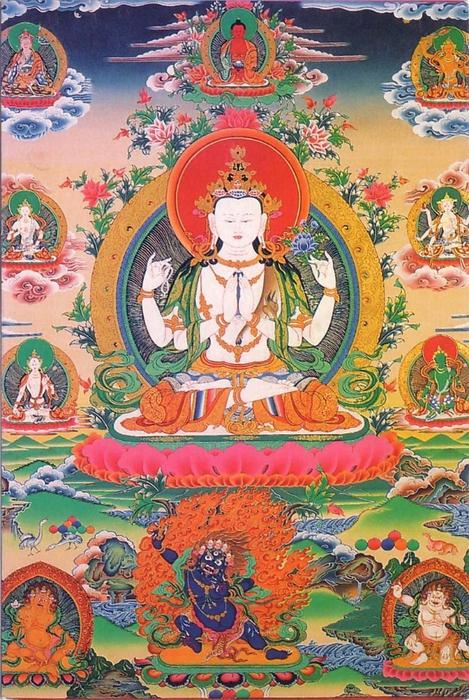 Thangka Chenrezig (469x700, 364Kb)