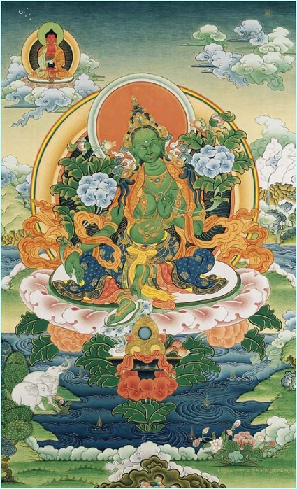 Thangka Green Tara (425x700, 302Kb)