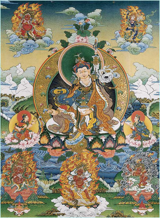 Thangka Guru Padmasambhava's refuge tree (513x700, 215Kb)