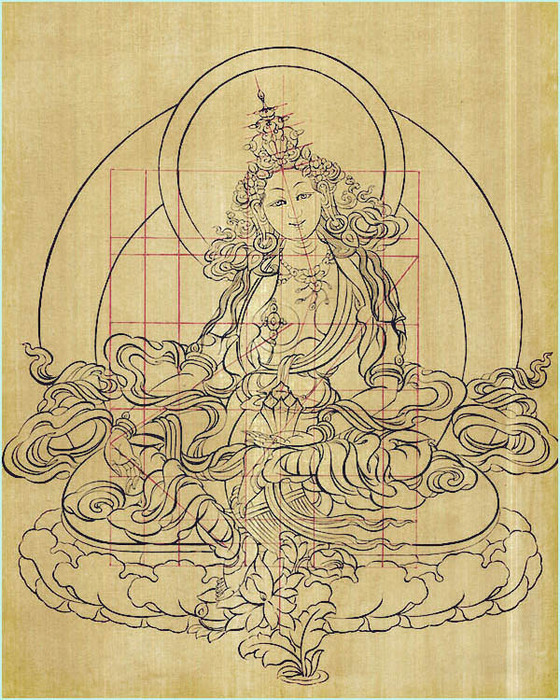 Thangka Koma Devi (drawing) (560x700, 219Kb)