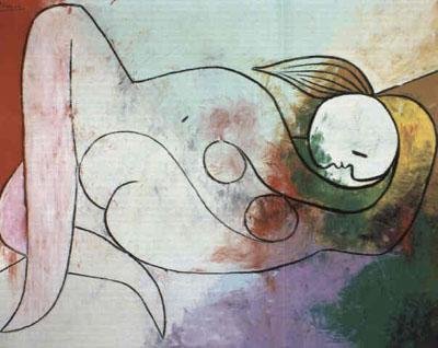 Picasso Femme nue. 1932. 129 x 160 cm. (400x318, 37Kb)
