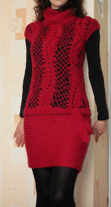 красное платье крючком (375x700, 55Kb)