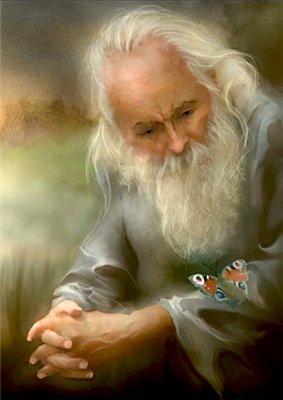 Старец и бабочка. (283x400, 21Kb)