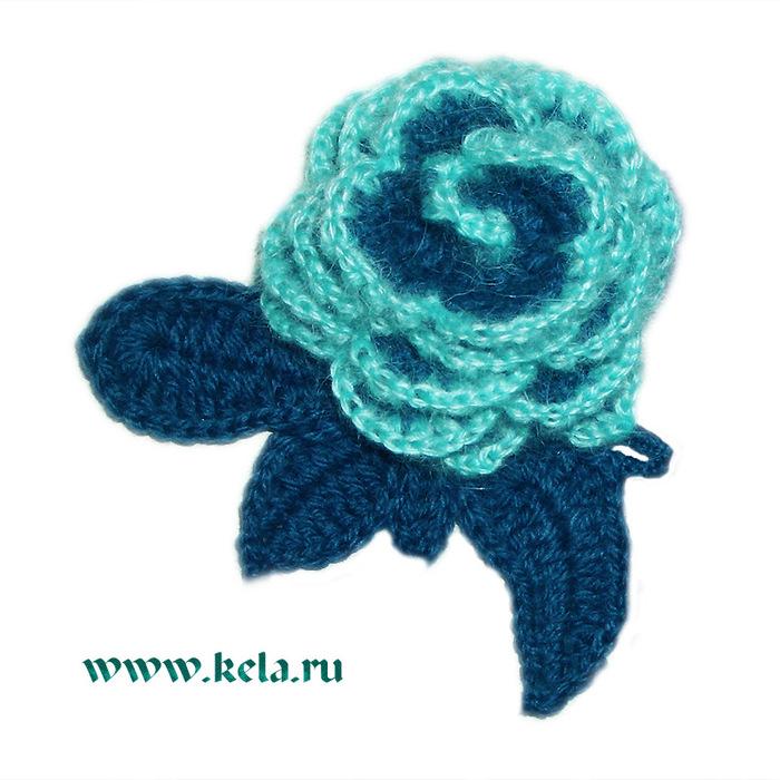 Вязаная брошь синяя роза вязание крючком читать дальше.