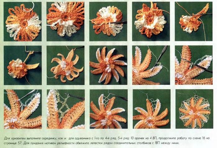 Схемы хризантемы крючком