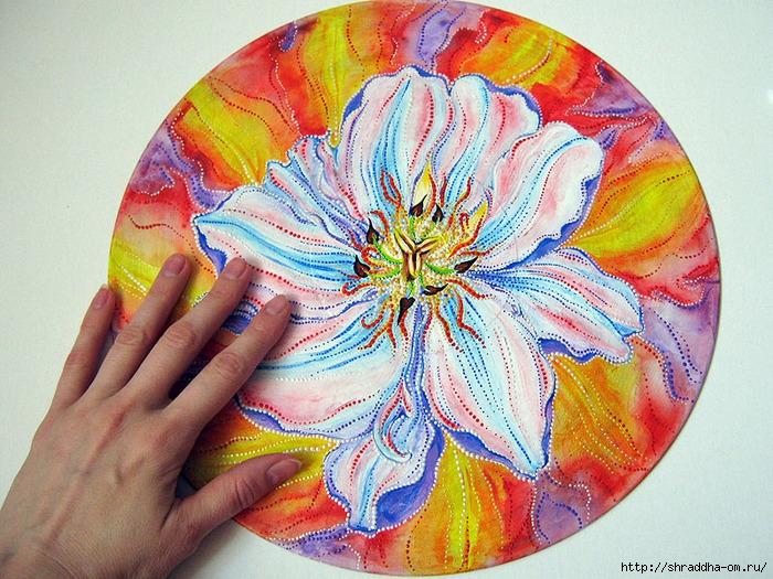 Пламенный цветок, роспись акрилом, автор Шрада (3) (700x525, 376Kb)