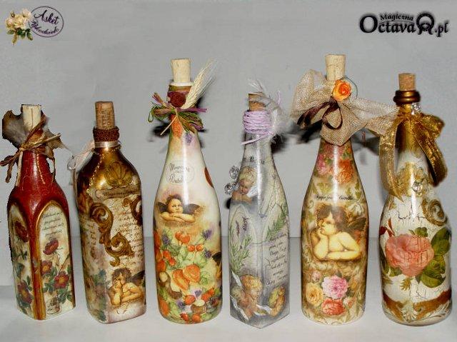 Декупаж бутылок мастер класс страна мастеров
