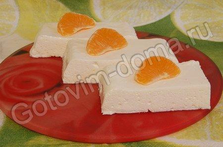 Десерт творожно-сметанный