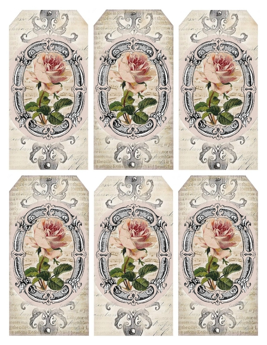 French roses gift tag collage lilac-n-lavender (540x700, 341Kb)