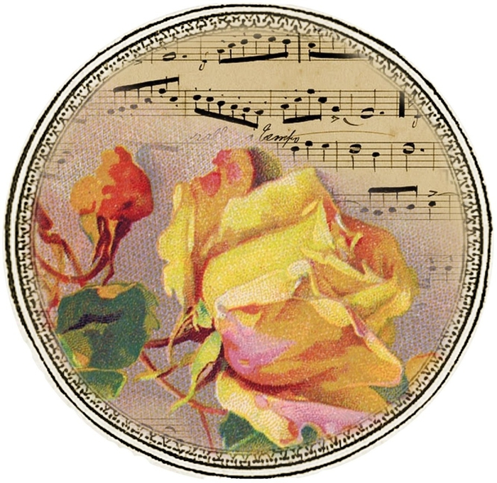 French sheet music and yellow rose tags1 (1) (700x681, 355Kb)