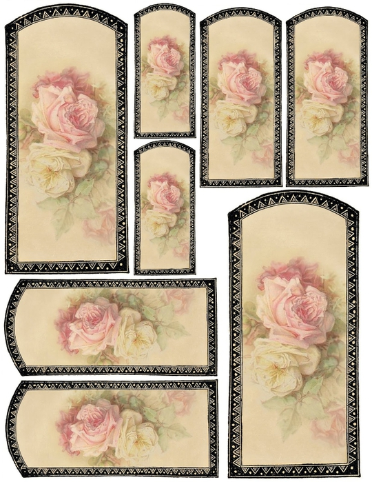 Vanilla label & rose tags collage sheet (540x700, 325Kb)