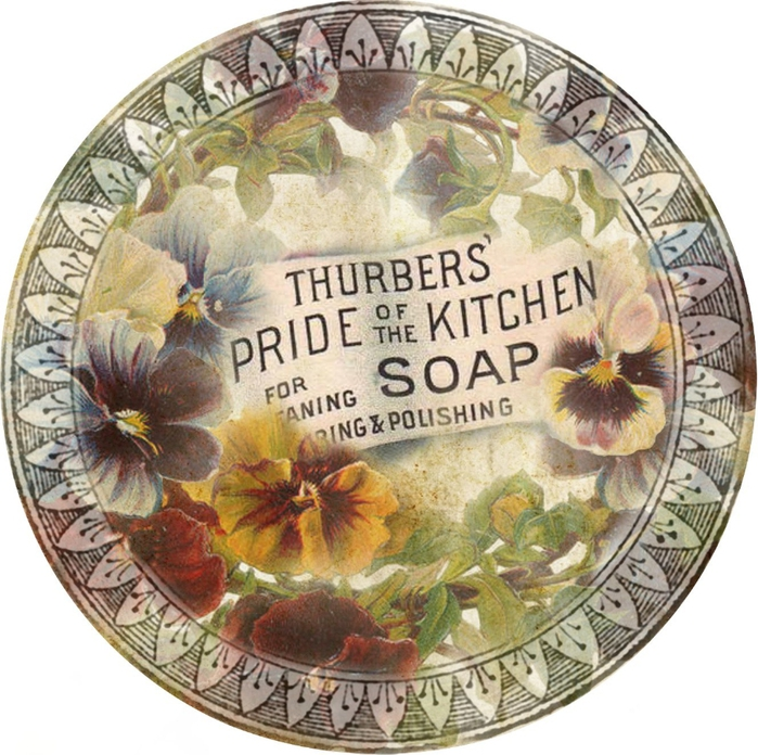 pansy grungy Thurbers' soap circle tag 2 (700x696, 358Kb)
