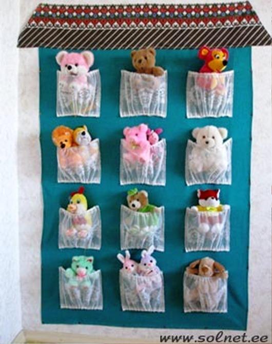 Как сделать полку из ткани для детских игрушек