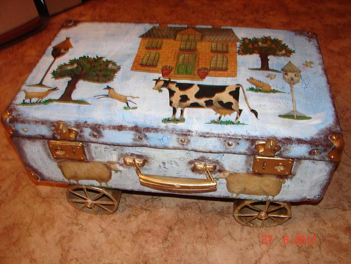 Старый чемодан своими руками фото