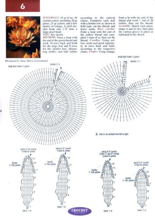 Вязаные цветы фуксии