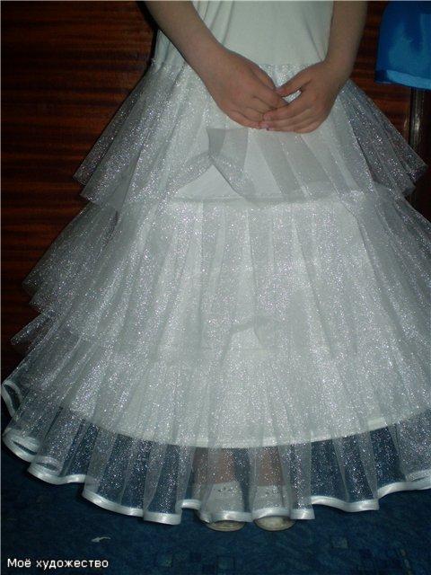 Как шить юбку с подъюбником