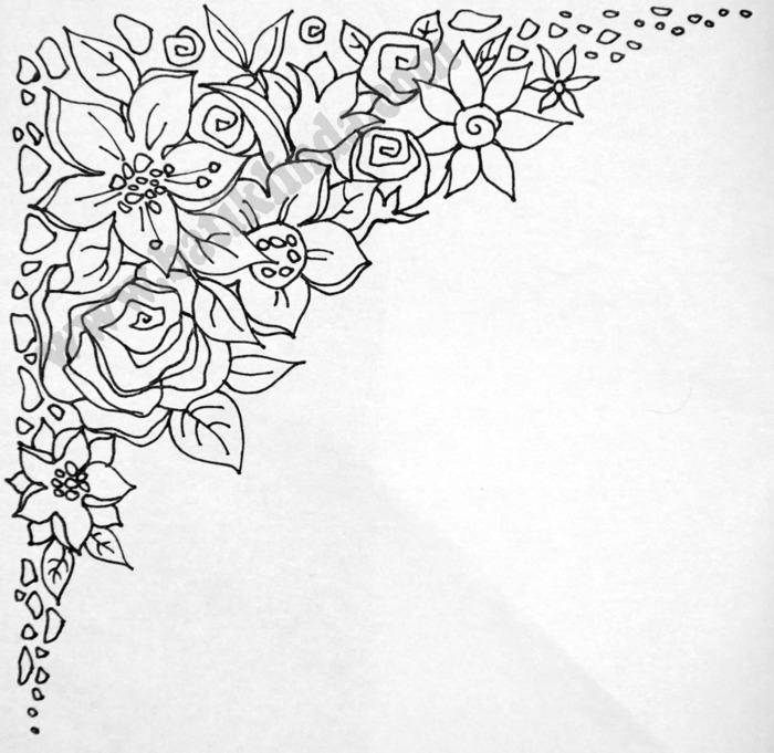 Картинки цветов для батика 3