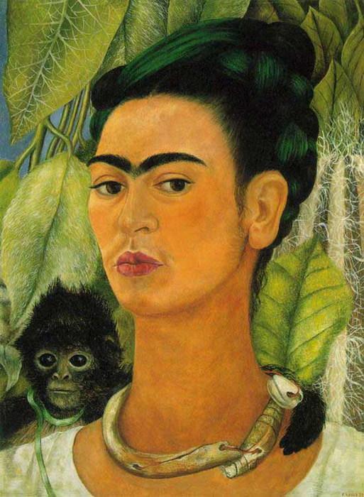 Автопортрет с обезьянкой 1938 (513x700, 117Kb)