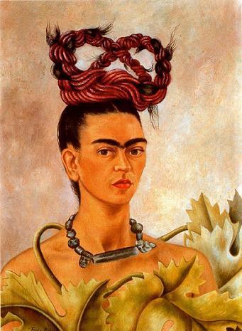 Автопортрет с косами 1941 (341x465, 35Kb)