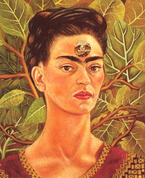 Frida Kahlo -Думая о смерти thinking about death (480x590, 86Kb)
