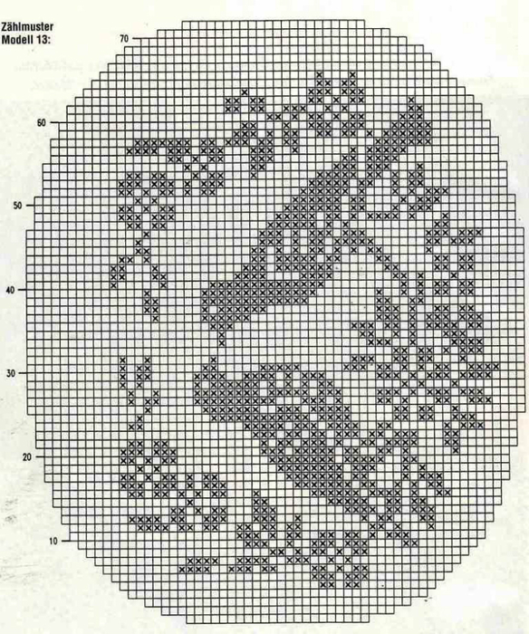 Узоры птицы для филейного вязания крючком схемы7