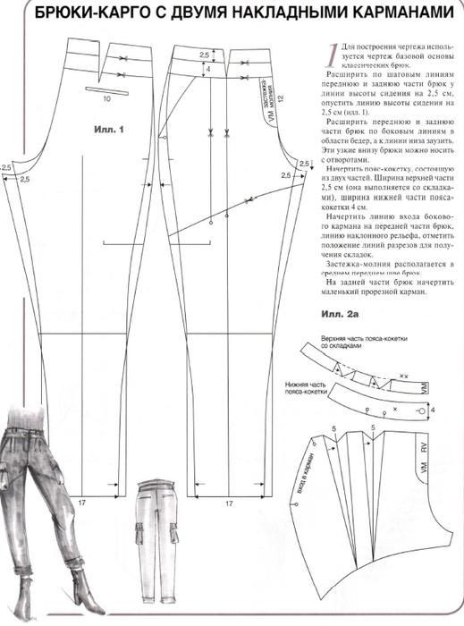 Выкройка женских брюк хорошая