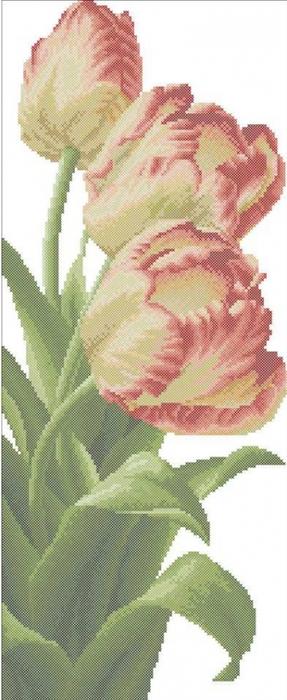 Вот такие тюльпаны я нашла в недрах всемирного.  Девочки, какие все молодцы.  Сколько красоты наваяли, просто глазки...
