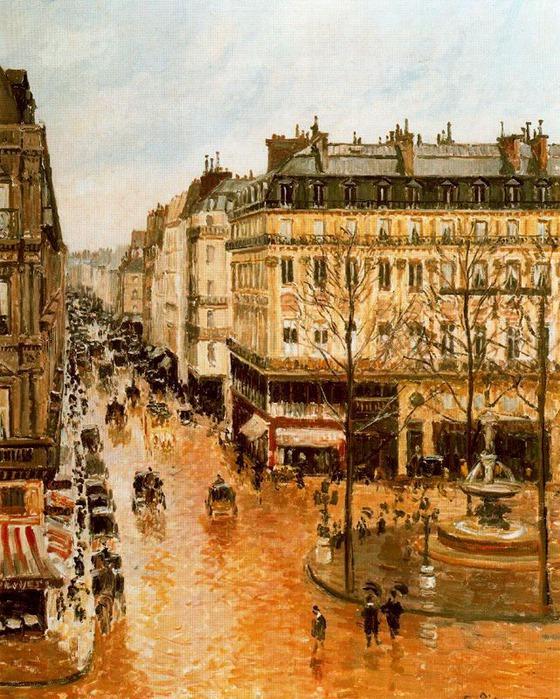 Улица дель Сент-Оноре после полудня. Эффект дождя 1897 (560x700, 176Kb)